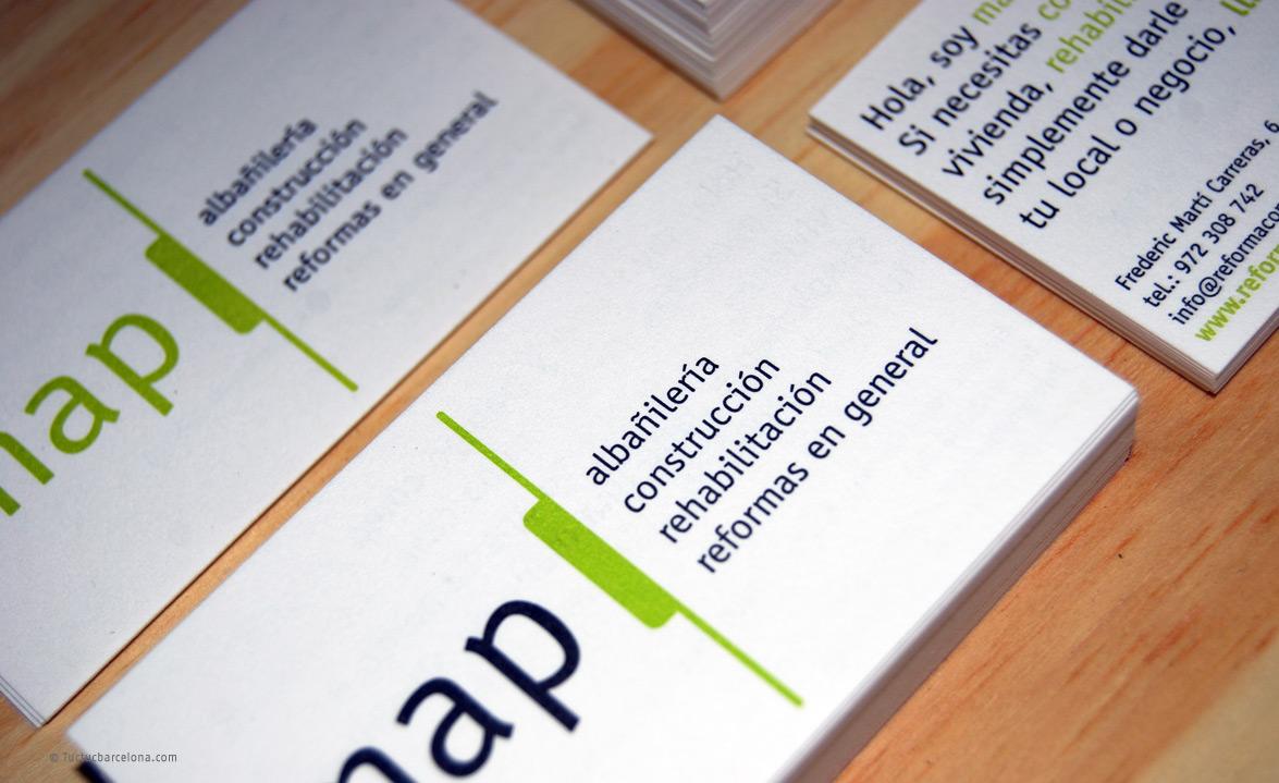 Dise o gr fico tarjeta de visita constructora estudio - Disenos para tarjetas ...