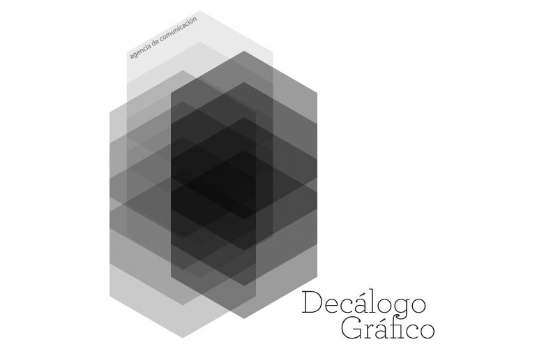 Diseño gráfico de marca y logotipo para agencia de comunicación Decálogo Gráfico en Barcelona.