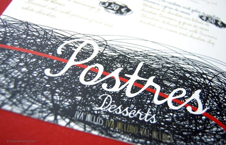 Diseñador gráfico carta restaurante creativa. Inspiración cartas restaurante.