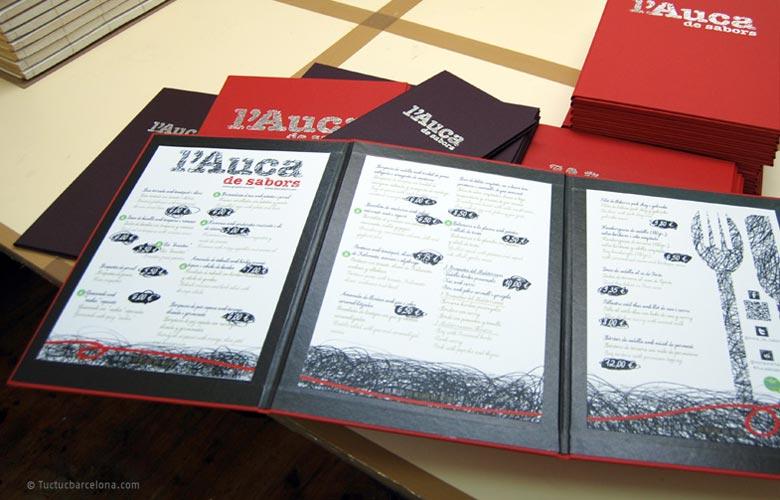 Diseñador gráfico carta y menú restaurante. Encuadernadores cartas restaurante