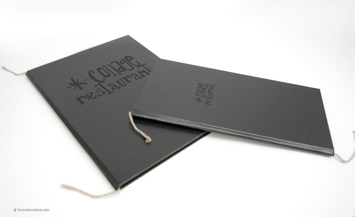 Tapas para carta de platos y carta de vinos en restaurante de Barcelona