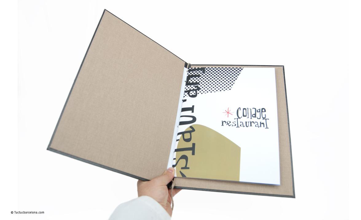 Diseño gráfico carta platos restaurante Barcelona