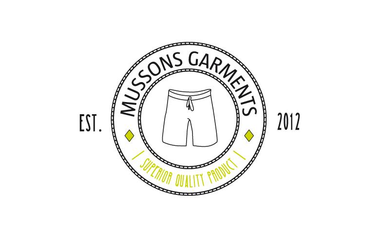 Diseño gráfico marca y logotipo para etiqueta de ropa