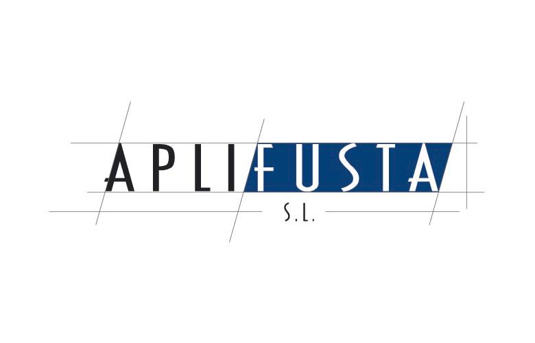 Diseño gráfico logotipo Aplifusta. Diseñador gráfico marcas y logoipo construcción