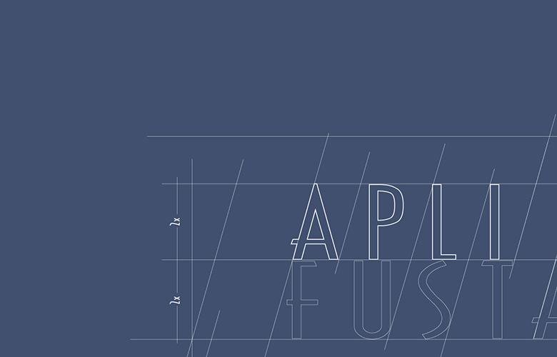 Detalle de logotipo diseñado para Aplifusta, empresa carpintería industrial.