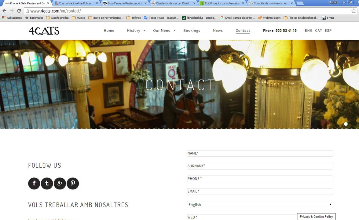 Diseño web por estudio de diseño gráfico y programación en Barcelona