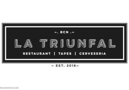Diseño gráfico logo y marca para restaurante Barcelona La Triunfal Tuctucbarcelona