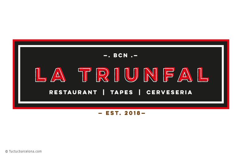 Diseño gráfico logotipo y marca para restaurante Barcelona La Triunfal Tuctucbarcelona